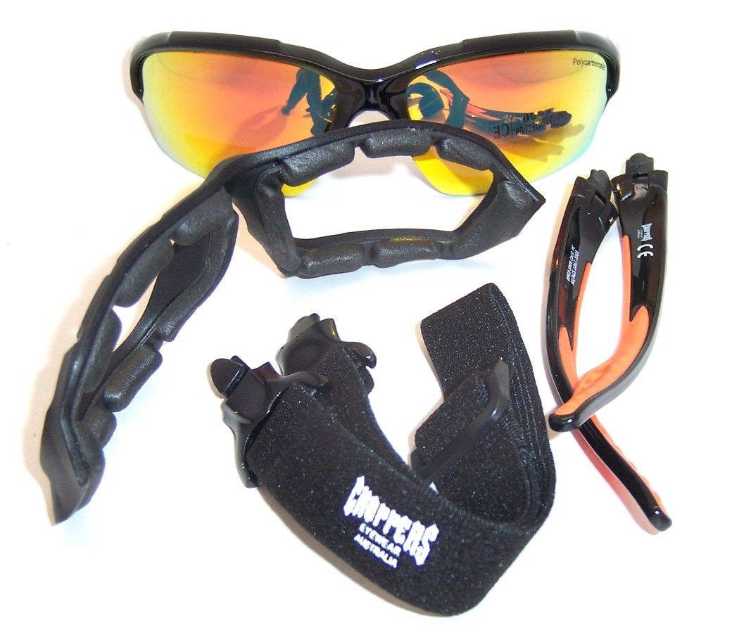 be4a3a6ca0e ... Goggles 8963-SMR. Foam Padded Motorcycle Goggles · Choppers Convertible Goggles  Sunglasses (Anti-Fog Coated ...