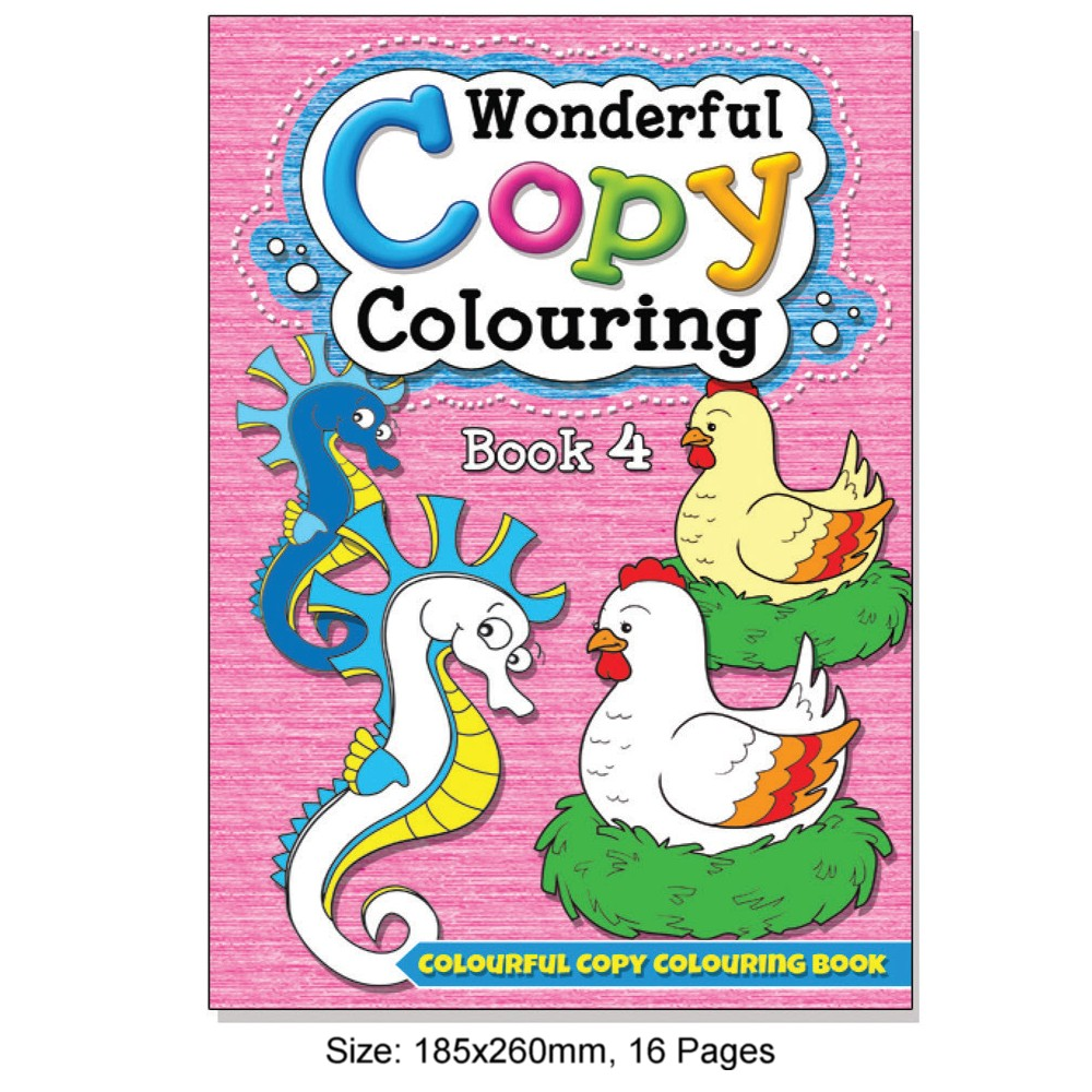 Wonderful Copy Colouring Book 4 (MM08608)