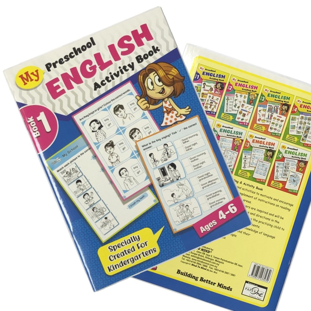 My Preschool English Activity Book 1, Ages 4-6 (MM33439)