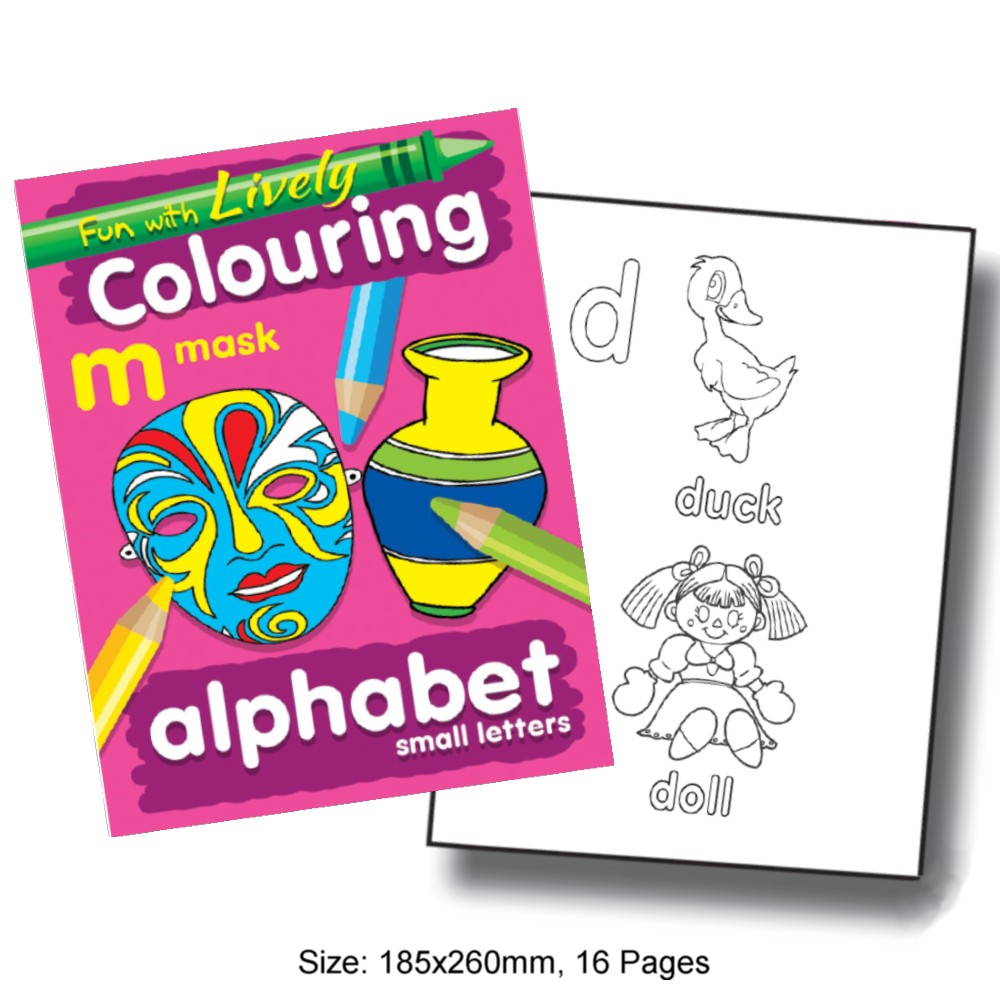 Fun with Lively Colouring Alphabet Small Letters (MM68720)