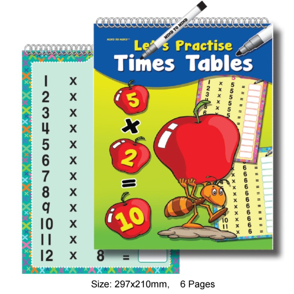 Flip Flash Let's Practise Time Tables (MM72146)