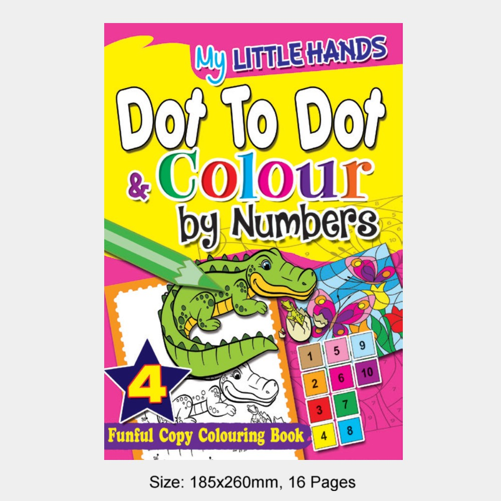 My Little Hands Dot To Dot & Colour by Numbers Book 4 (MM74973)