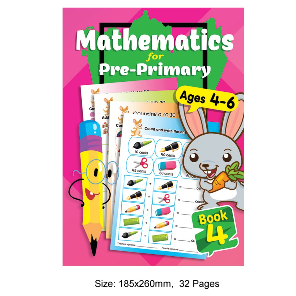 Mathematics for Pre-Primary Ages 4-6 Book 4 (MM79237)