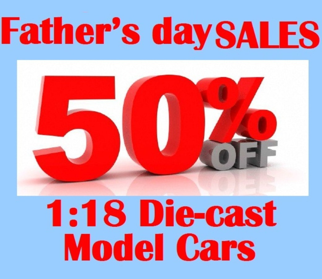 50% OFF Father's Day Sales 24pcs 1:18 Diecast Models (Freight not inclued)