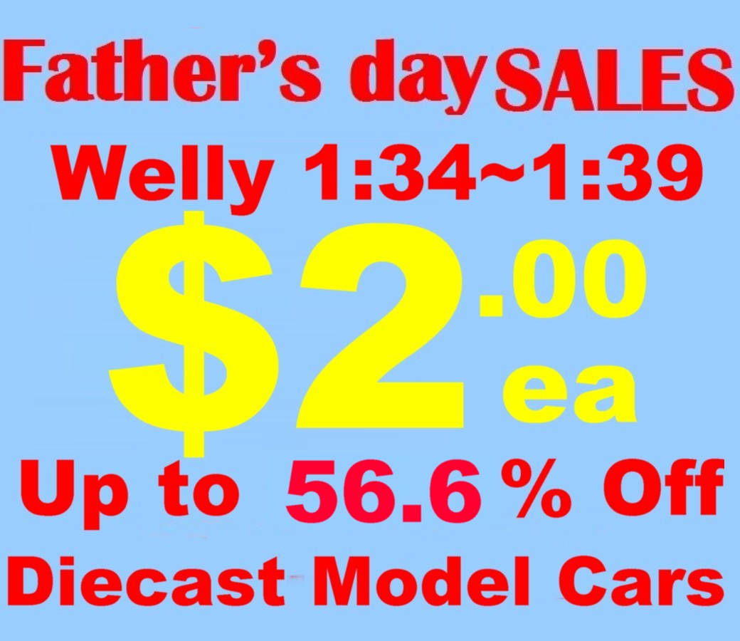 56% Off Father's Day Sales 96pcs 1:34~1:39 4.75' Welly Diecast Models (Freight not inclued)