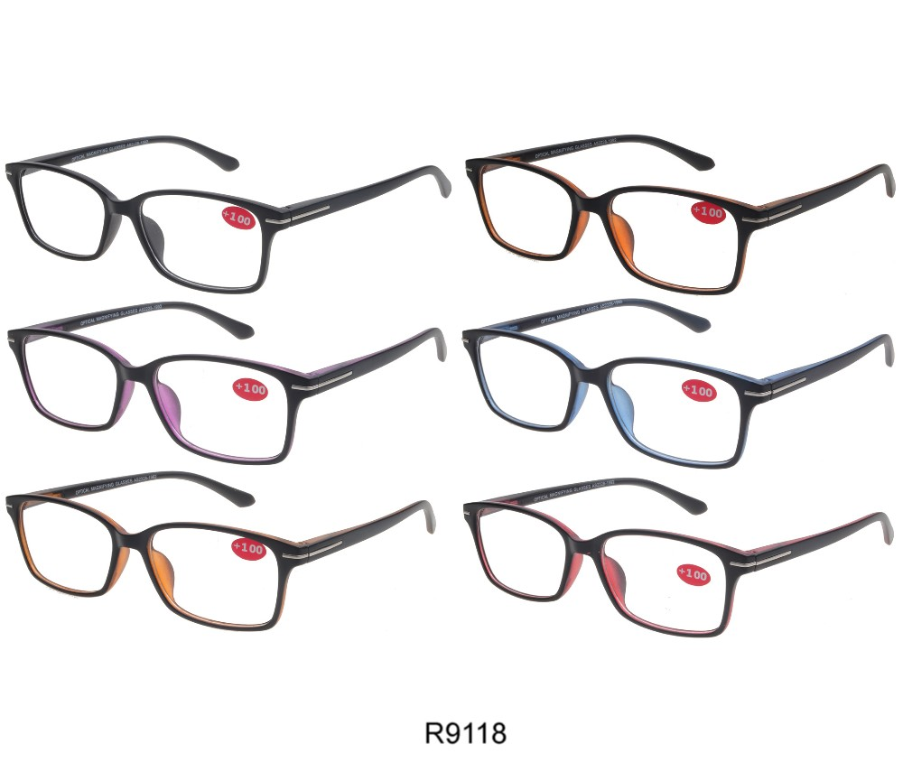 Cooleyes Fashion Unisex Plastic Reading Glasses (Spring Temple) R9118